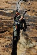 Rock Climbing Photo: Upper Leeda In the crack at Cracked Actor