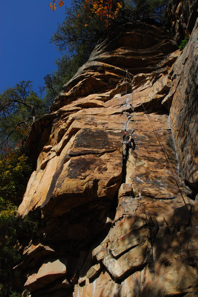 Rock Climbing Photo: In the crack!
