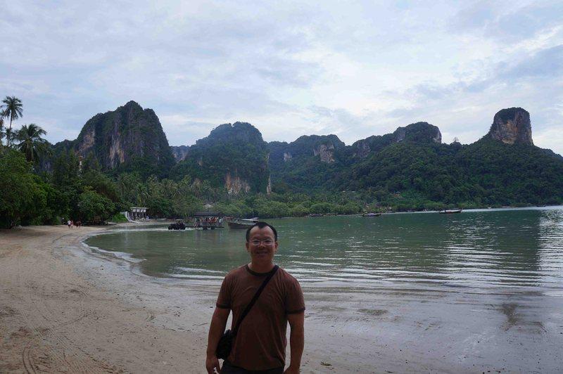 At Railay East Beach in Thailand