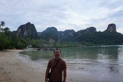 Rock Climbing Photo: At Railay East Beach in Thailand