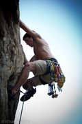 Rock Climbing Photo: One of my first trad climbs, Ooga Chocka at Crowde...