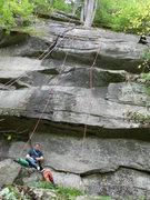 Rock Climbing Photo: Josh gearing up under Psychic City