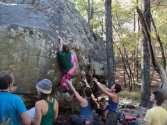 Rock Climbing Photo: Unknown climber wearing some serious Panty Shields...