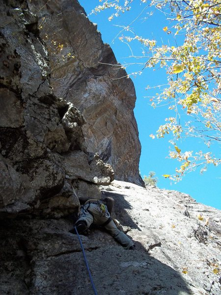 Rock Climbing Photo: Mike C. Robinson on First documented ascent