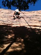 Rock Climbing Photo: My cousins first time climbing.  TR the route.