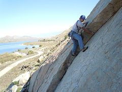 Rock Climbing Photo: left flake