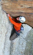 Rock Climbing Photo: MAF on Golden Dream, Gunks