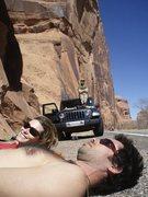 Be-laying at Wall St., Moab