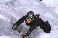 Rock Climbing Photo: Yummy plastic ice, Deep Notch, Catskills, NY