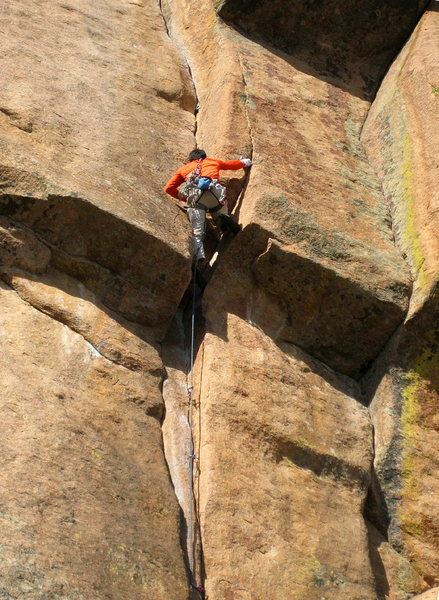 Rock Climbing Photo: Yours truly, mid crux on my redpoint of this fanta...