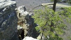 Rock Climbing Photo: rap station - climb to the top of the gully at the...