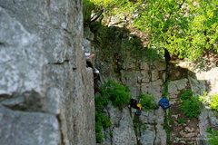 Rock Climbing Photo: Looking down on Candy Corner
