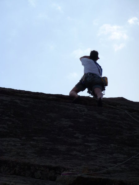 Rock Climbing Photo: Knuckleduster on the Backside of Enchanted Rock