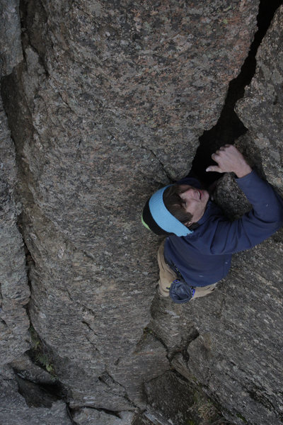 Rock Climbing Photo: © Jason Kaplan. Nick Broeder free solo.