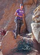 Rock Climbing Photo: Ready to head up Super Slab (5.6) at Smith