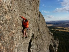 Rock Climbing Photo: Call of the Wild 5.10b-c on Big Rock, Rocks of Sha...