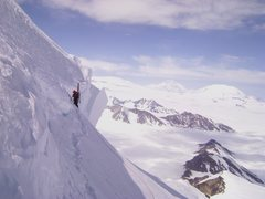 Rock Climbing Photo: Climbing up Rime Peak.