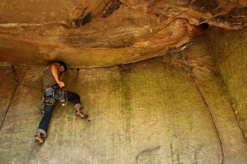 Rock Climbing Photo: mid traverse