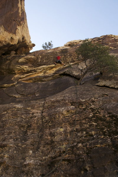 Rock Climbing Photo: Cruising up the Sleeper.