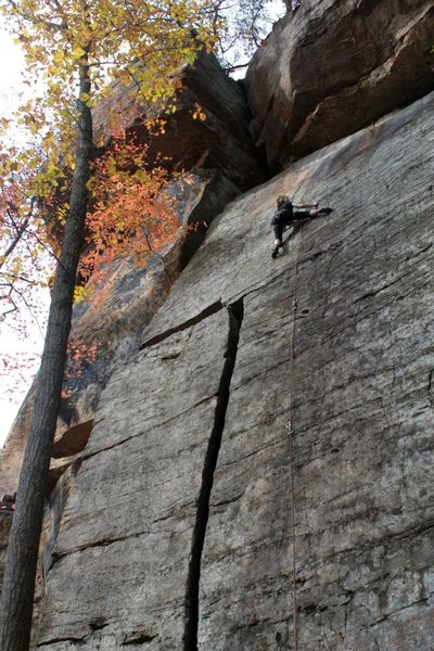 Rock Climbing Photo: lily on the fun upper slab...