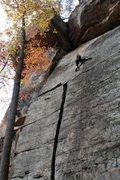 Rock Climbing Photo: lily on the fun upper slab...