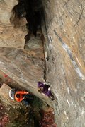 Rock Climbing Photo: lily starting up...