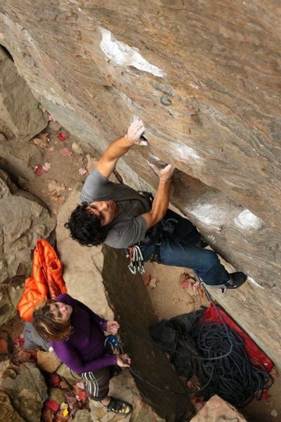 Rock Climbing Photo: hale on the lower part...