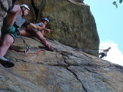 Rock Climbing Photo: High Exposure guide Jason Beaupre with clients on ...
