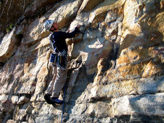 Rock Climbing Photo: Lucander off the GT Ledge on p. 2 of Keep on Strut...