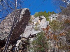 Rock Climbing Photo: The route scrambles up the blocky start, then clim...