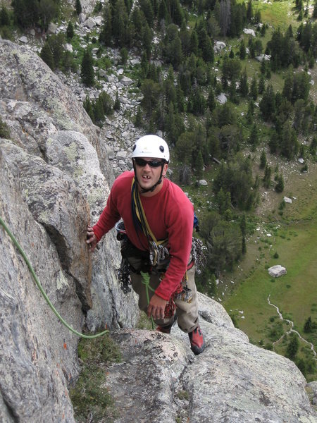 climbing mid summer dome, east fork valley