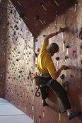 Rock Climbing Photo: Traversing warm up