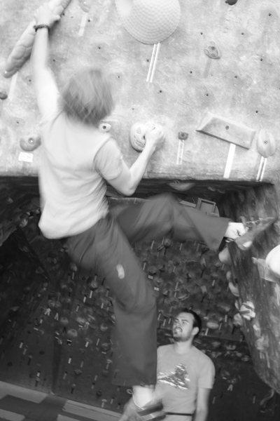 Rock Climbing Photo: Bouldering a interesting pumkin