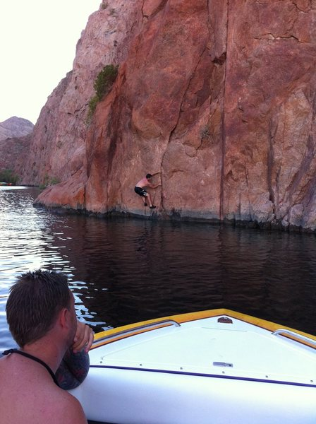 Feeling a little awkward clearing the water at Lake Mohave