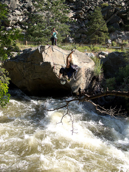 Tyrolean Traverse - Boulder Canyon