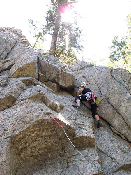My first lead! Boulder Canyon