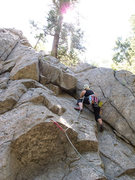 Rock Climbing Photo: My first lead! Boulder Canyon