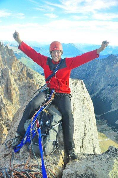 Rock Climbing Photo: Dennis atop Torre Principal