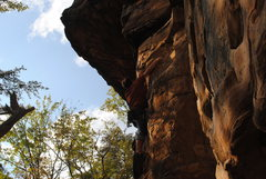 Rock Climbing Photo: One of the 5.11s on Leda I believe