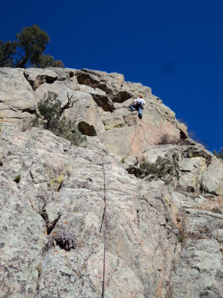 Rock Climbing Photo: Gravity takes a break.