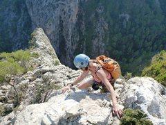 Rock Climbing Photo: Looking down the ridgeline of Albahida on the 3rd/...
