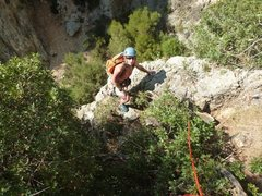 Rock Climbing Photo: First pitch of Albahida