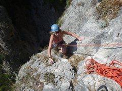Rock Climbing Photo: Finish of pitch 4 of Albahida