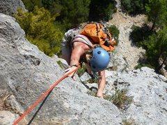 Rock Climbing Photo: Coming up Albahida's fifth pitch