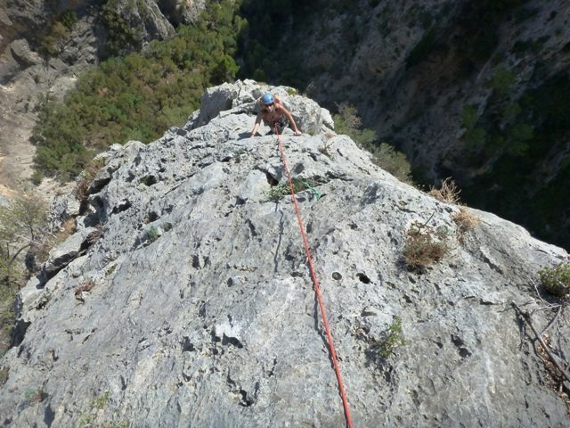 Rock Climbing Photo: Seventh pitch of Albahida
