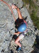 Rock Climbing Photo: Finish of the 5th class climbing on Albahida
