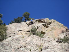 Rock Climbing Photo: Leo finishing the crux section on Where's Ron.