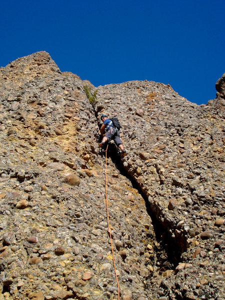 Rock Climbing Photo: Changing the Stripes, pitch 1