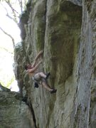 Rock Climbing Photo: Upper crux, not so vertical like the lower crux. S...