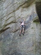 Rock Climbing Photo: Moving onto steeper rock